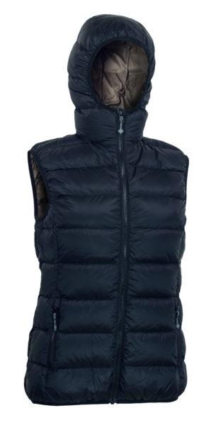 Warmpeace_Yuba vest black-brown