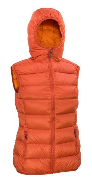 Warmpeace_Yuba vest orange-fuego